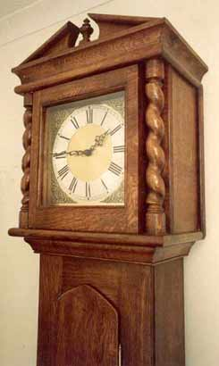 Long Case Clock in Oak